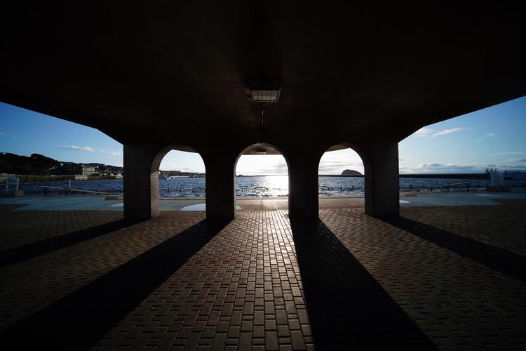 差し込む光の風景画像