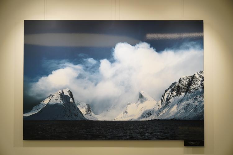 フィヨルドの景色のプリント画像
