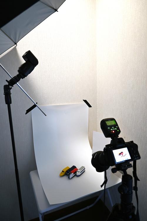 物撮り簡易スタジオ