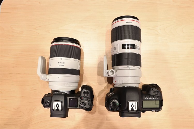 RF70-200mmとEF70-200mmIIIを並べて撮影した写真.JPG